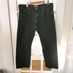LEVIS   Vintage 501s Black Straight Leg Button Fly